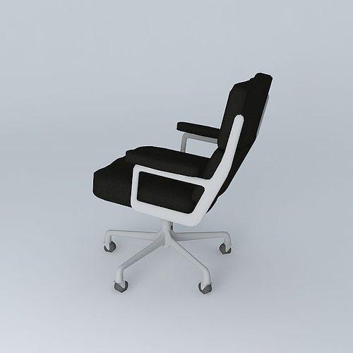 eames executive office chair 3d model max obj 3ds fbx stl dae 2