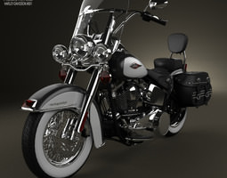 3d harley-davidson heritage softail classic 2012