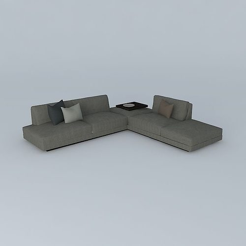 office soft sofa 3d model max obj 3ds fbx stl dae 1