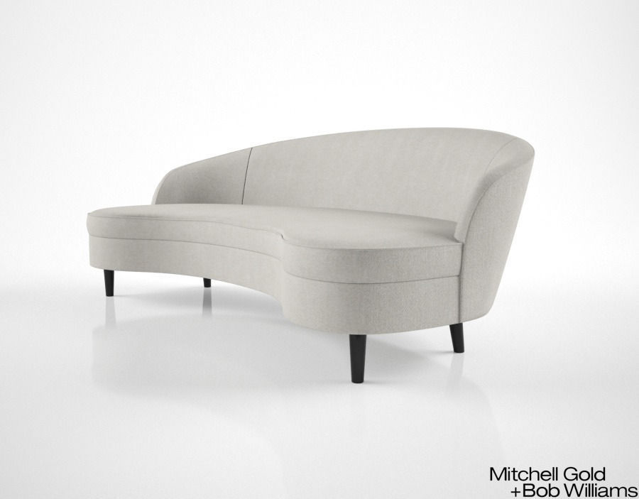 Mitchell Gold And Bob Williams Vera Sofa 3d Model Max Obj Mtl Fbx