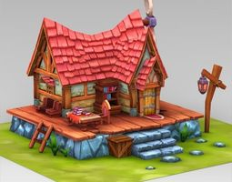 3D Asset Fantasy Sweet Home