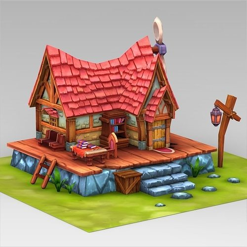 Fantasy Sweet Home 3d Model Low Poly Max Obj 3ds Fbx C4d Lwo Lw Lws ...