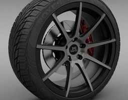 Savini Forged SM-4 Wheel 3D Model