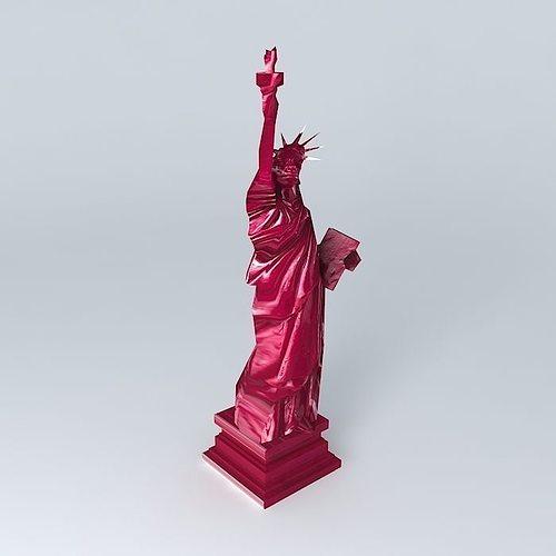 pink liberty statue maisons du monde 3d cgtrader. Black Bedroom Furniture Sets. Home Design Ideas