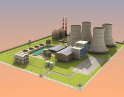 3d model nuclear powerplant