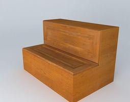 fair Kitchen Red Fair Cabinet 3D