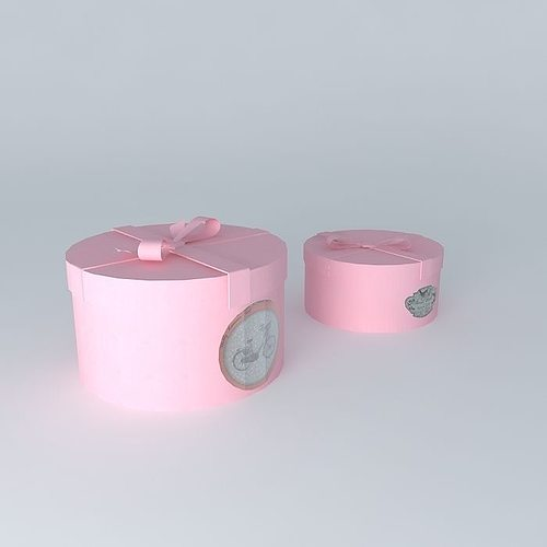 2 round boxes angelica houses the world 3d model max obj 3ds fbx stl dae 1