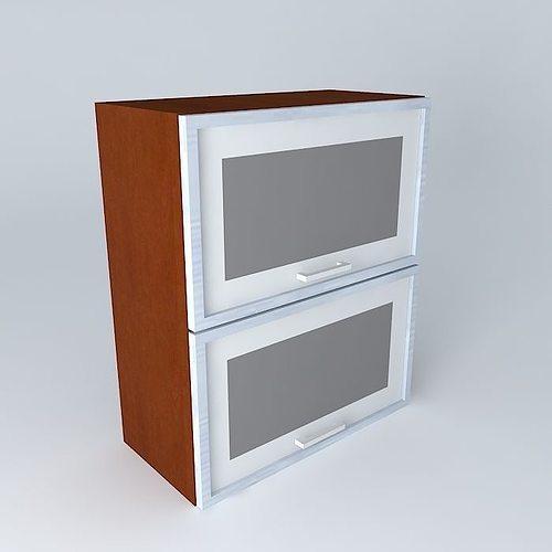 35th park avenue kitchen cabinet g2oo 60 72 2oova3 brw 3d model max obj mtl 3ds fbx stl dae 1