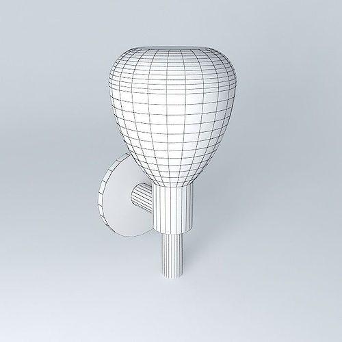 Wall Lamps 3d Model : Arandela wall lamp free 3D Model MAX OBJ 3DS FBX STL DAE CGTrader.com