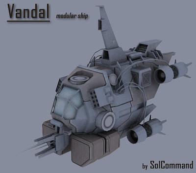 Vandal-modular ship 3D model   CGTrader