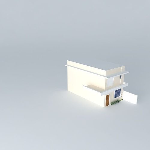 Multi storey house exterior 3d model cgtrader for Exterior 3d model