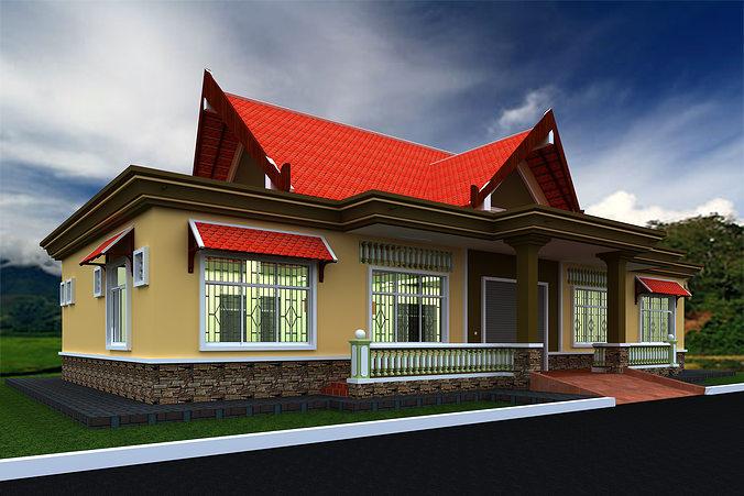 commercial public building 3d model skp 1