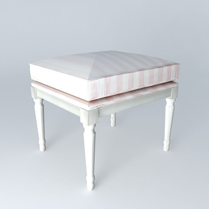 pink striped child bench paris fashion maisons du monde 3d model max obj 3ds fbx stl dae. Black Bedroom Furniture Sets. Home Design Ideas