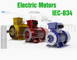 3D 42 CAD Models - Electric motors IEC B34