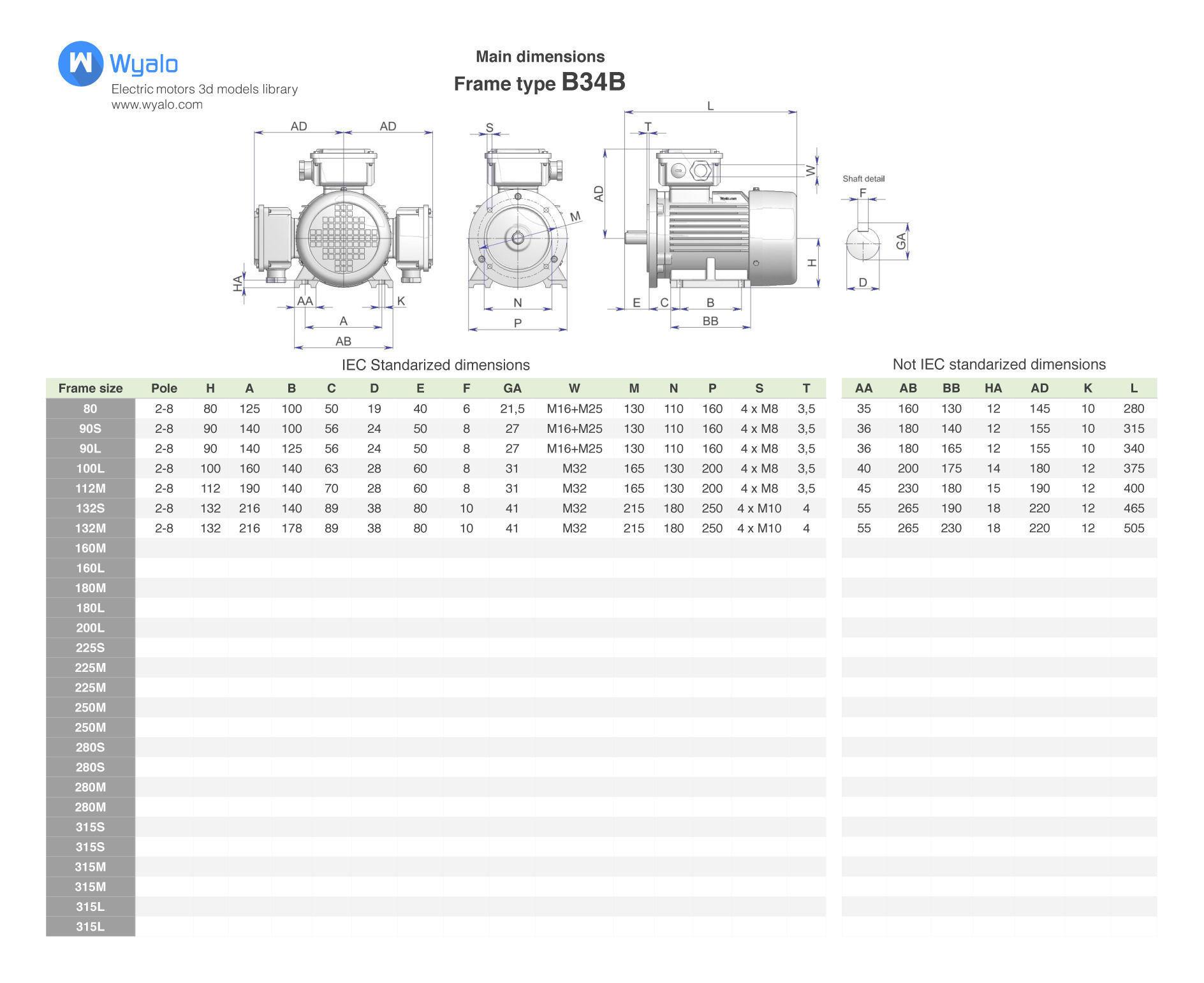 3D 42 CAD Models - Electric motors IEC B34 | CGTrader