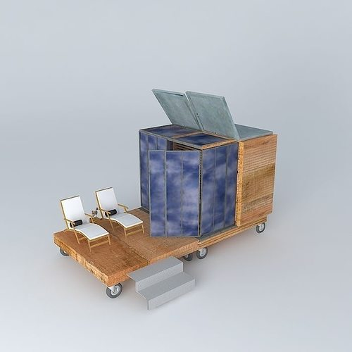 the cube spa solarium a cube in my garden a new part in my ga... 3d model max obj 3ds fbx stl dae 1