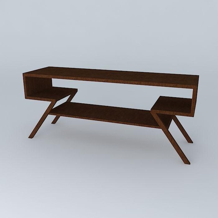 TV table free 3D Model MAX OBJ 3DS FBX STL DAE  CGTradercom # Modèle Table Tv