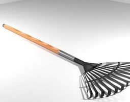 Garden Tool - Lawnrake 3D