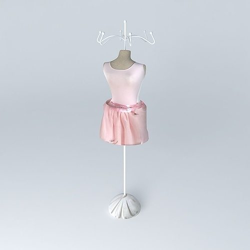 Jewelry holder mannequin dancer tutu house 3d model max for Jewelry stand 3d model