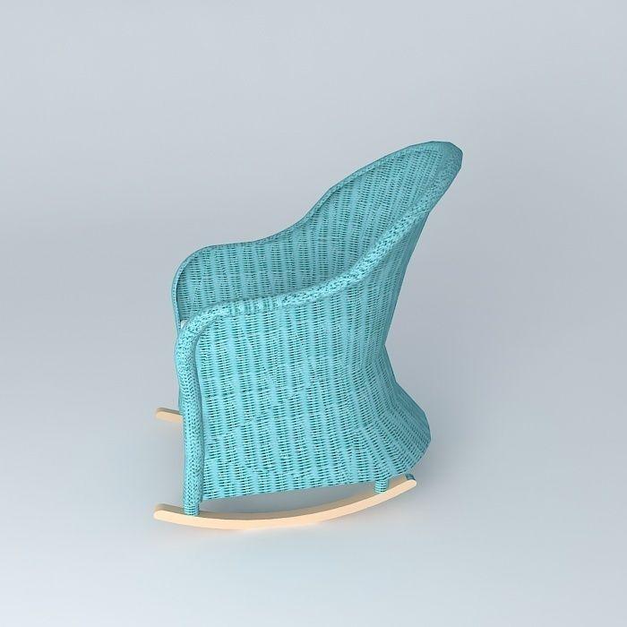 rocking chair blue child ocean maisons du 3d model. Black Bedroom Furniture Sets. Home Design Ideas