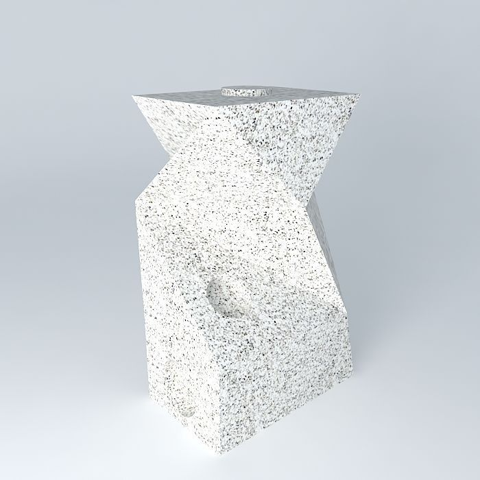 3D model granite sculpture escultura de granito | CGTrader on Granite Models  id=26917