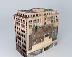 3d olympic block building in seattle, wa, usa