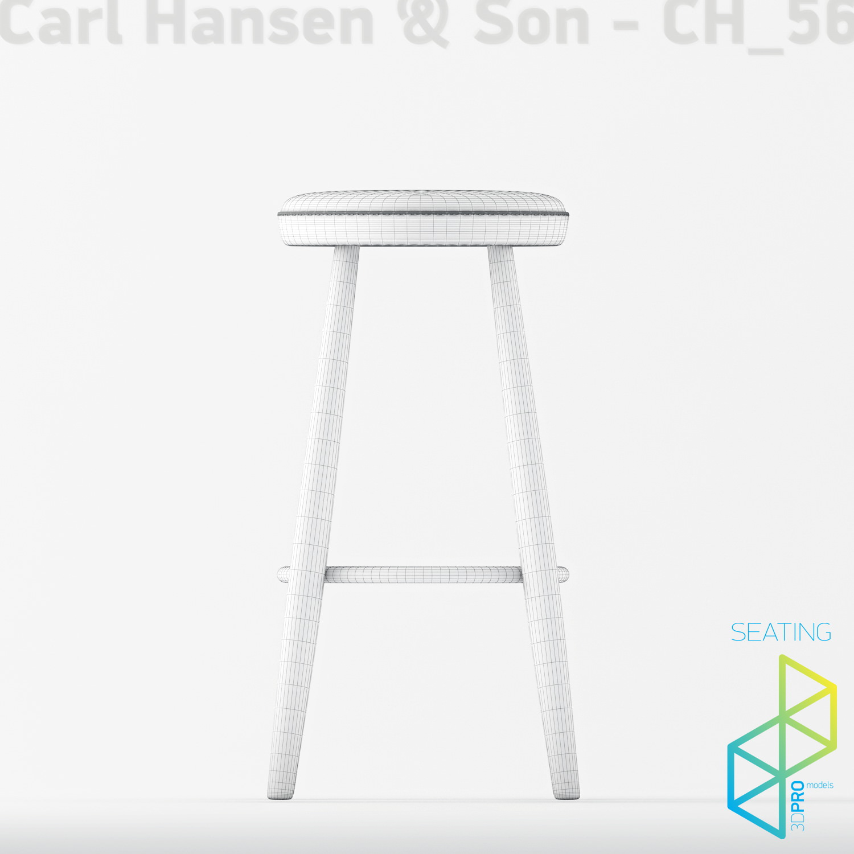Carl Hansen Son Ch56 Bar Stool 3d Model Max Obj 3ds