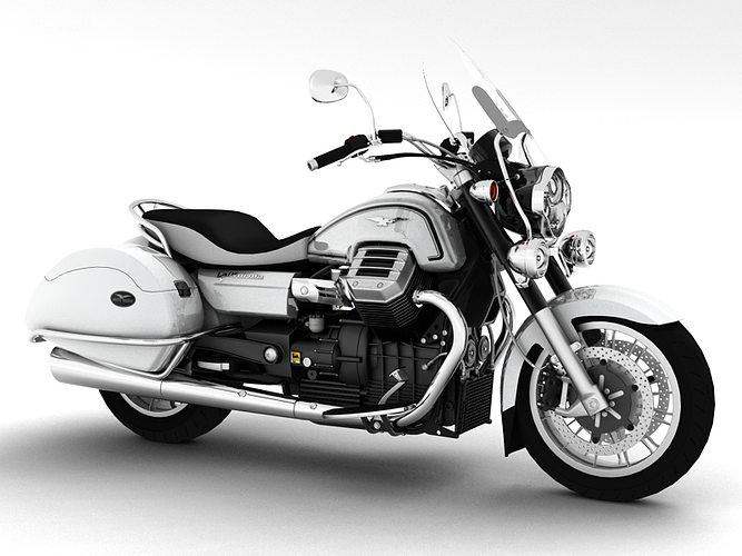 moto guzzi 1400 california touring 2013 3d model max obj mtl 3ds fbx c4d dxf 1