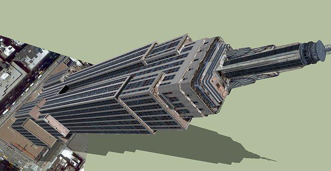 empire state building 3d model dwg skp 1