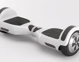 3d model two wheel electric unicycle scooter