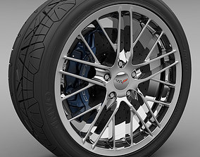 ZR1 Wheel and Tire 3D model