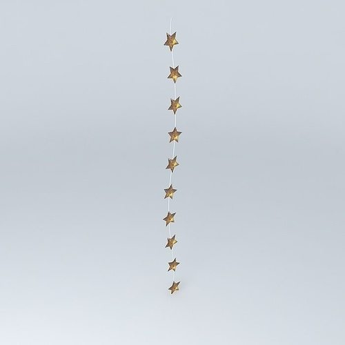 gold star christmas lights sirius houses the world 3d model