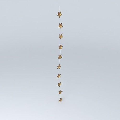 gold star christmas lights sirius houses the world 3d model