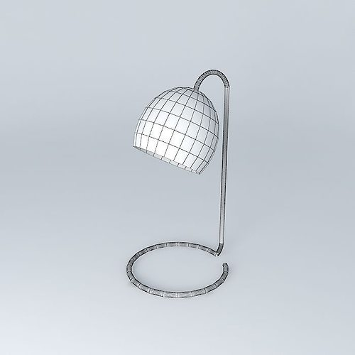 West Elm Scoop Table Lamp Free 3d Model Max Obj 3ds Fbx