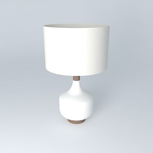 3d model west elm modernist table lamp cgtrader west elm modernist table lamp 3d model max obj 3ds fbx stl dae 1 aloadofball Choice Image