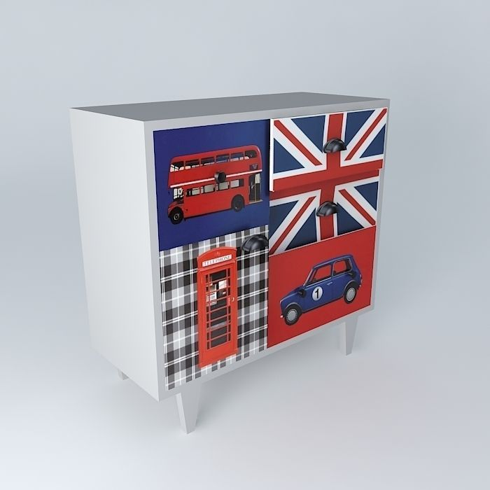 LONDON gray cabinet houses the world