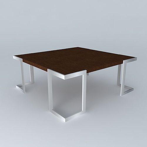 mesa de centro 3d max