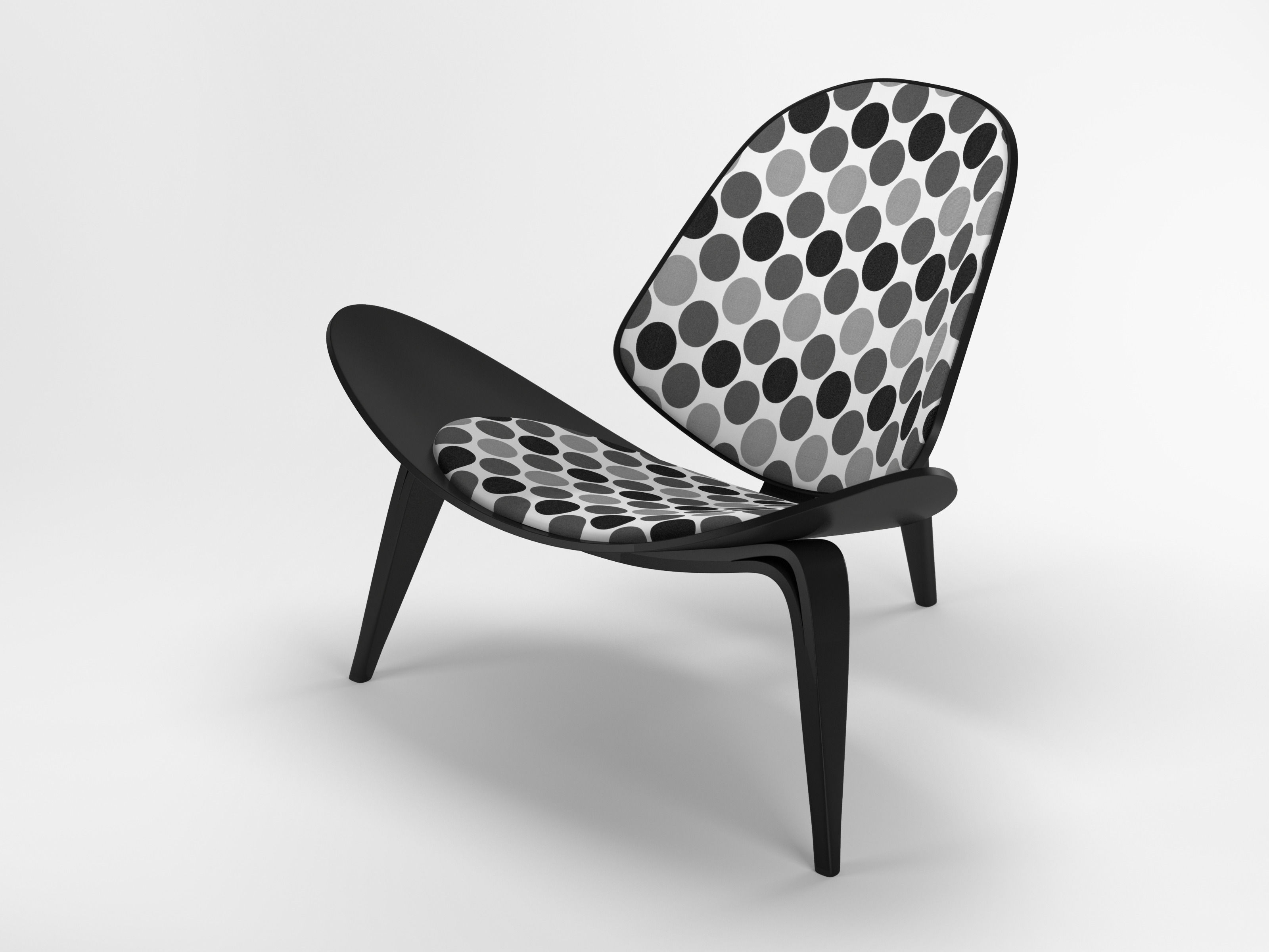 3D Hans Wegner Shell Chair