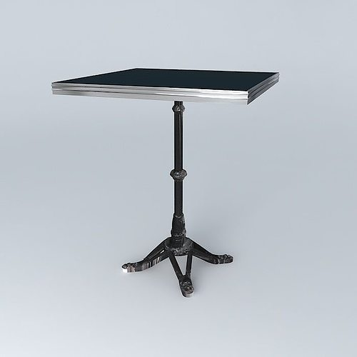 Awesome ... Bistro Table Square Ardamez Company Ral 7016 Grey Anthracite 3d Model  Max Obj 3ds Fbx Stl ...