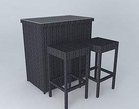 ANTIBES 2 bar stools houses the world 3D