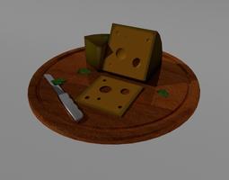 3D Cheese Plate VR / AR ready