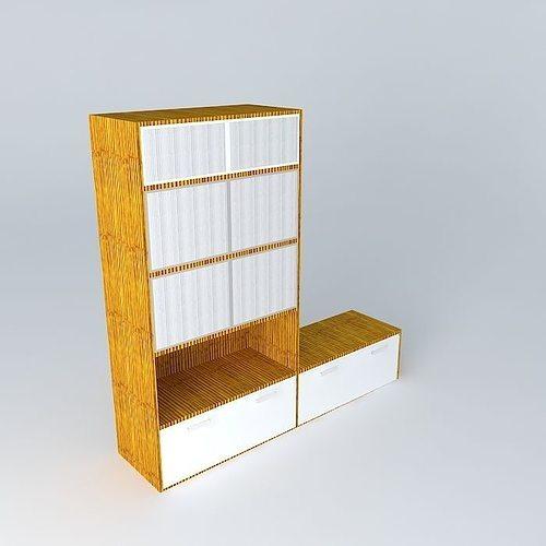 Rack Pequeno Book Shelf Tv Rack Estante Free 3d Model Max