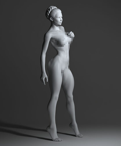 Strong naked woman | 3D Print Model