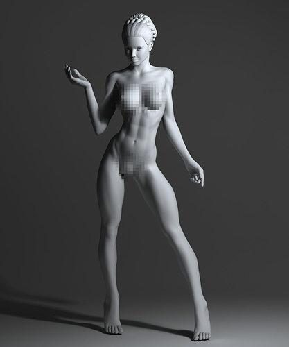 A strong naked woman photos 42