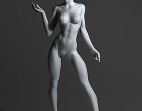 3D printable model Strong naked woman nude