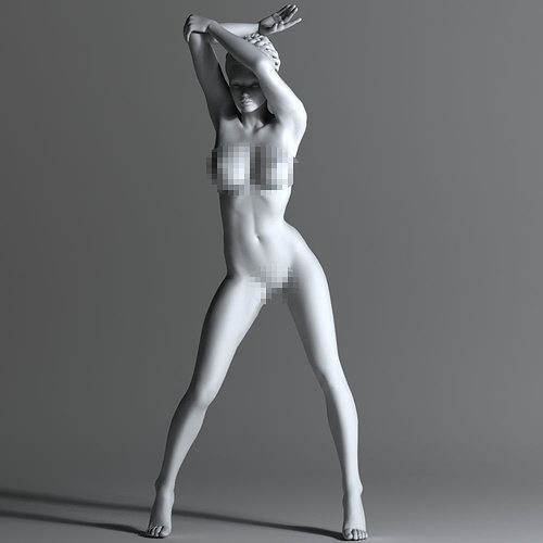 sexy naked woman 3d model stl 1