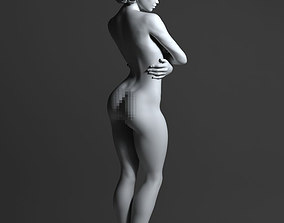 3D printable model people Sexy woman with short hair