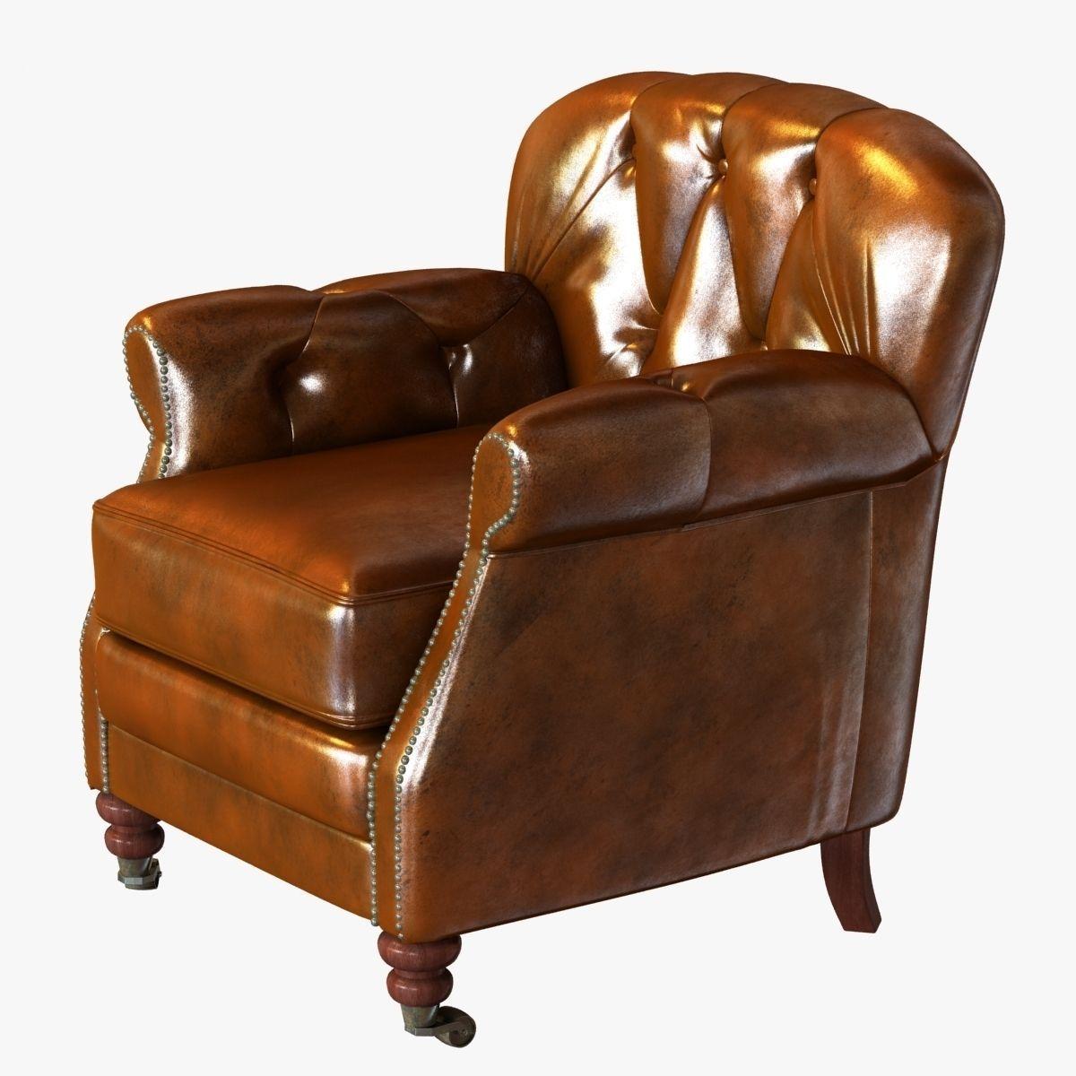 Noir Furniture Club Chair Vintage Cigar Leather 3d Model Max Obj 3ds Fbx  Mtl 1 ...