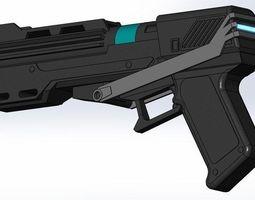 dc-15s republic commando blaster pistol 3d printable model