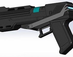 DC-15s Republic Commando blaster pistol 3D print model